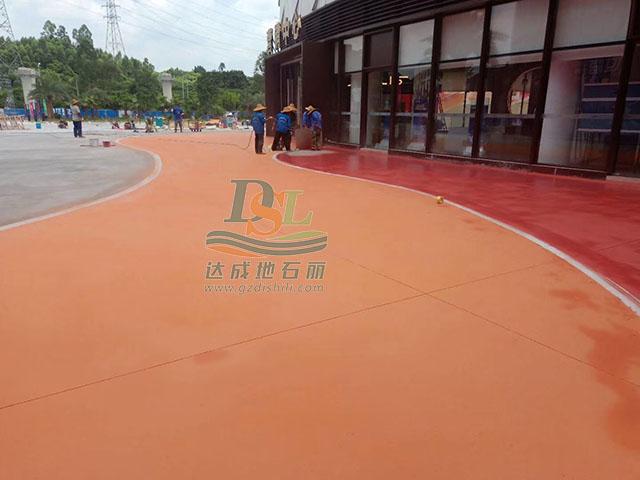增城华夏世嘉欢乐世界艺术彩绘地坪