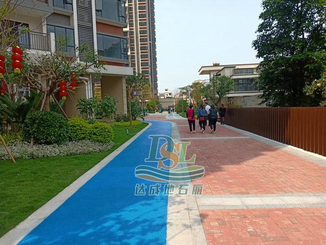 新会贝沙湾二期透水地坪项目