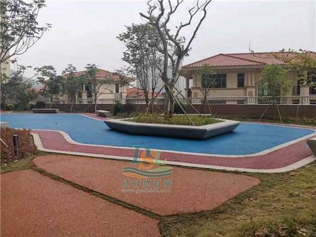 惠州维拉庄园彩色透水混凝土