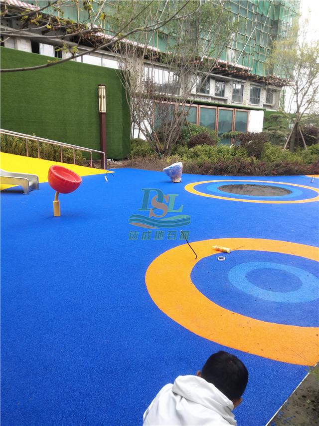 安华汇悦府展示区园林景观工程EPDM橡胶地垫
