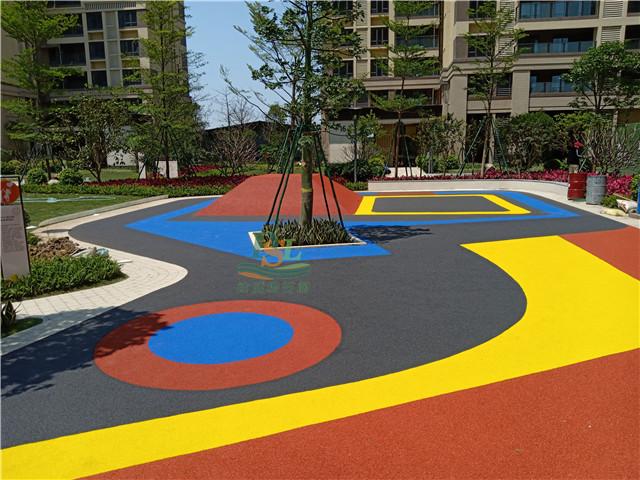 保利碧桂园中滨花园D彩色透水沥青 EPDM项目