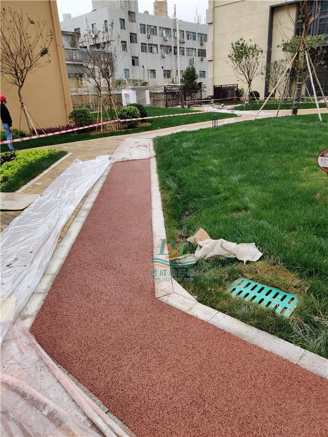 惠州佳兆业可园透水地坪施工案例实拍