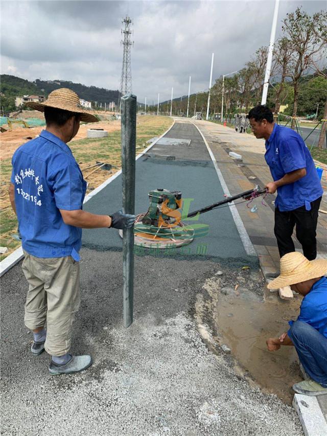 广汕公路一标透水混凝土