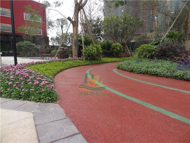 金融街融穗华府园林景观彩色透水地坪案例
