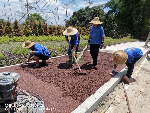 增城仙村仙基农业荔枝小镇透水地坪项目