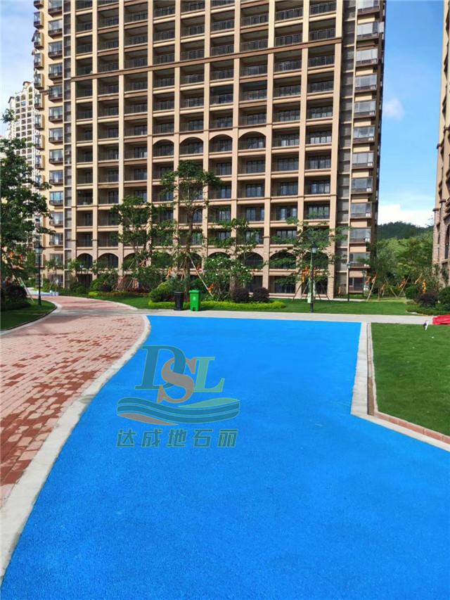 惠东巽寮湾蓝色透水混凝土