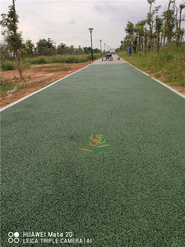 增城朱村西福河岸绿色透水混凝土