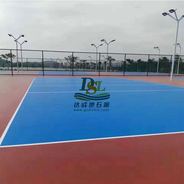 广东民航学院硅PU球场地坪项目图