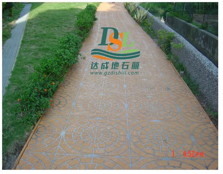 3d立体纸模彩绘地坪,彩绘石艺术地坪市政路面防滑地坪
