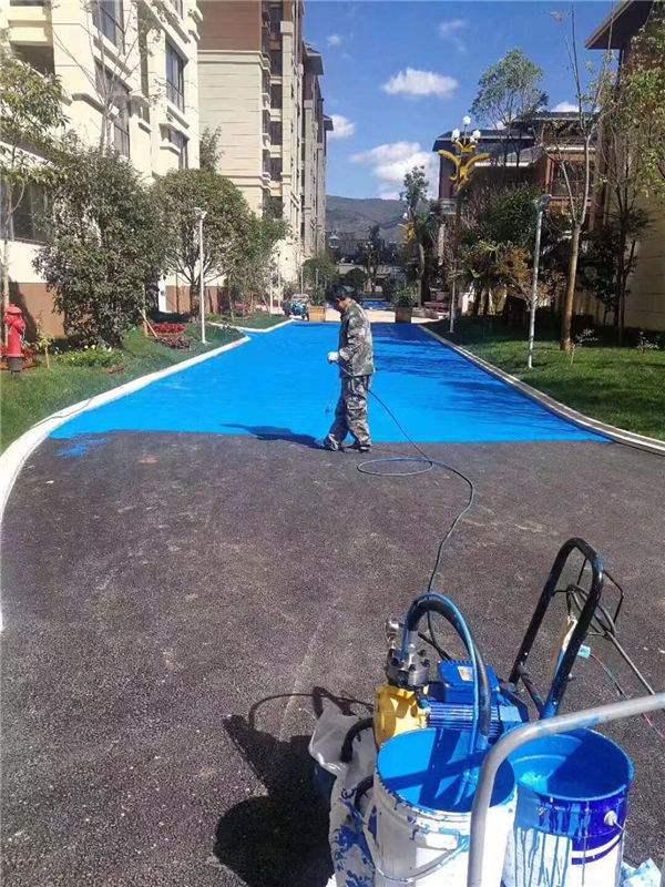 改色沥青喷面,沥青路面喷漆施工工艺   沥青路面彩色喷涂漆